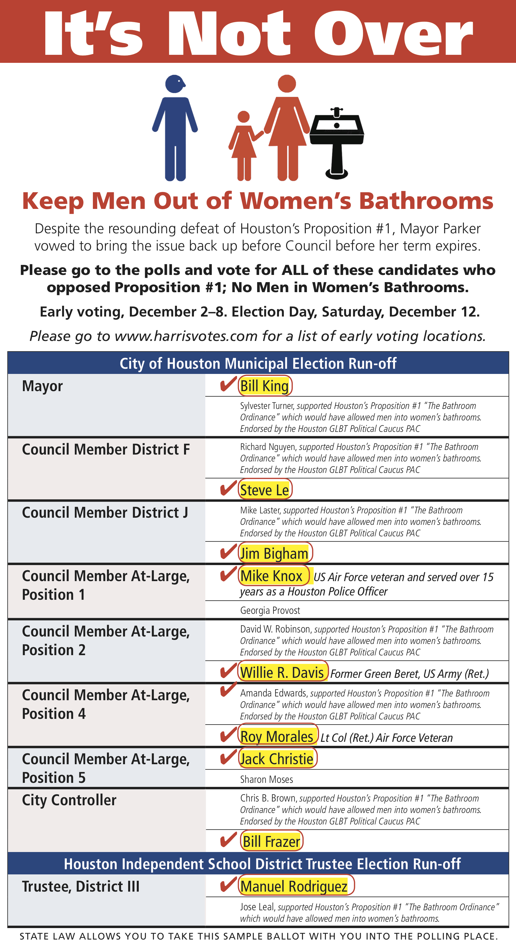Sample Ballot – Campaign for Houston